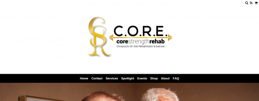 top of the Core Strength Rehab website